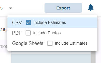 Exports now include CSV and PDF