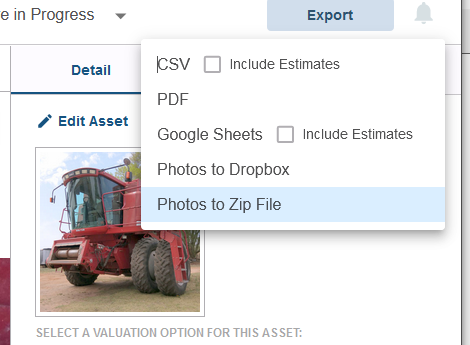 December update allows photo export to Dropbox or zip archive.